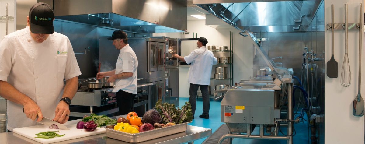 Our kitchen staff working