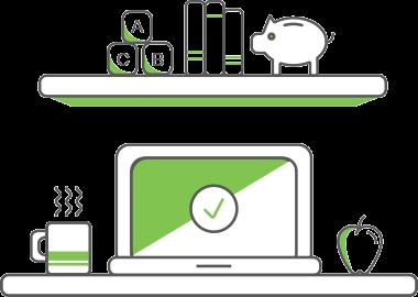 Icon of computer on Nurture Life website