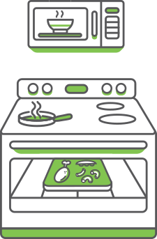 Icon of Nurture Life meals being reheated