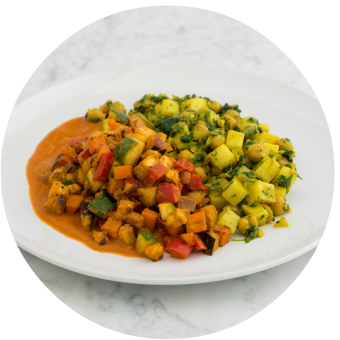 Afghan Chickpea & Potato Curry with Roasted Vegetables_circle