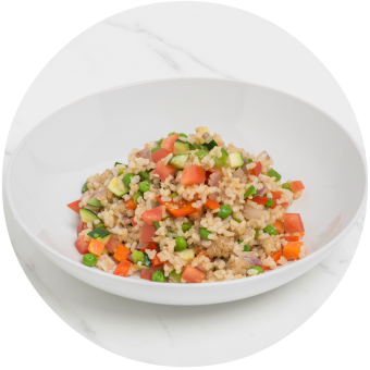 Arroz con Vegetables & Amaranth_circle
