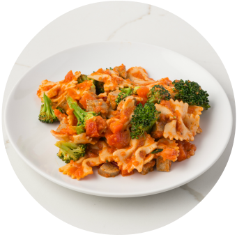 Baked Vegetable Farfalle with Veggie Sausage_circle