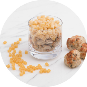 chicken meatballs and pasta for babies