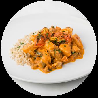 Chicken Tikka Masala with Brown Rice_circle