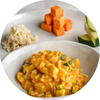 farro, zucchini and yams puree for babies