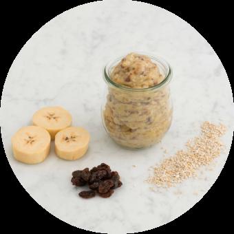 plantain, oatmeal and raisin puree for babies