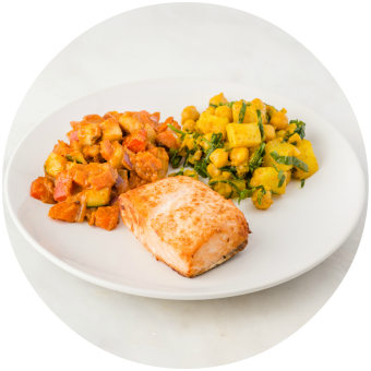 Roasted Salmon and Afghan Chickpea Curry_circle