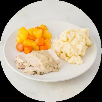 Roasted Turkey & Gravy with Mashed Potatoes_circle