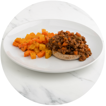 Sloppy Joes with Glazed Carrots & Beets copy Circle