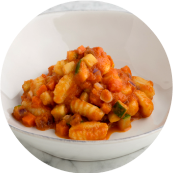 Nurture Life spinach pasta gnocchi with vegetable sauce