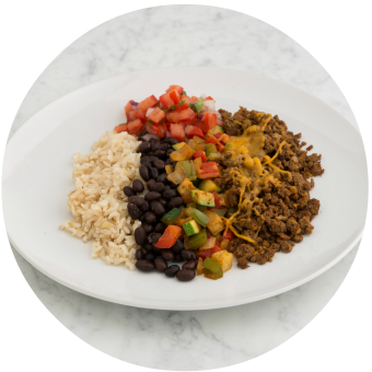 Tex Mex Black Bean & Veggie Chorizo Bowl_circle