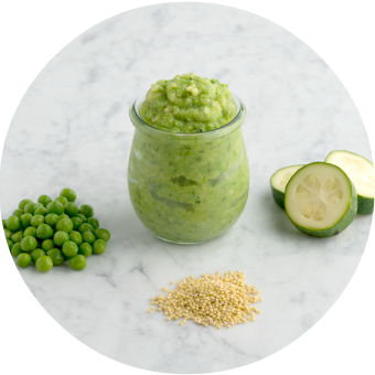 Zucchini English Pea Millet Baby Food Puree