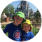 two kids smiling in Disney World