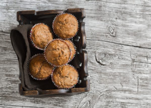 muffins in basket